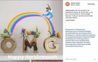 Instagram post celebrating Pride month