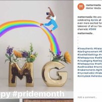 Instagram post celebrating Pride month