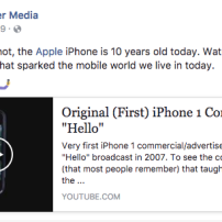 Facebook post for iPhone news