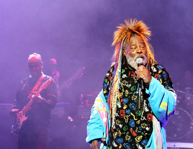 George Clinton live on stage